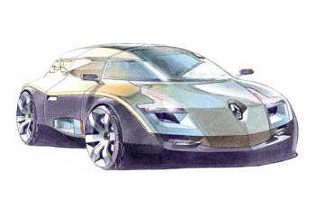 [Présentation] Le design par Renault Renault-Altica-Design-Sketch-1