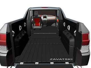 dodge rampage concept sketch rear view - 2015 Dodge Rampage