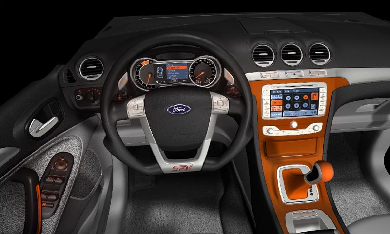 Ford S Max interior rendering - Car Body Design