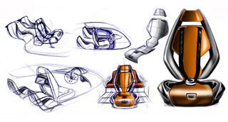 Audi Concept by Enes Canay - Interior Sketches