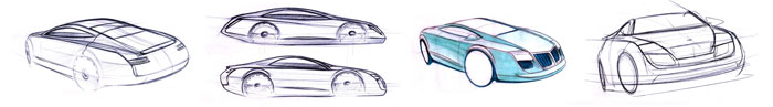Audi Concept by Enes Canay - Preliminary Sketches