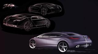 [Présentation] Le design par Peugeot Peugeot-908-RC-Design-Sketch-4
