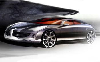 [Présentation] Le design par Peugeot _Peugeot-908-RC-Design-Sketch-1