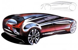 Citroen C Metisse Design Sketches