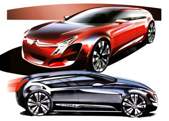 [Présentation] Le design par Citroën _Citroen-C-Metisse-Design-Sketches-1
