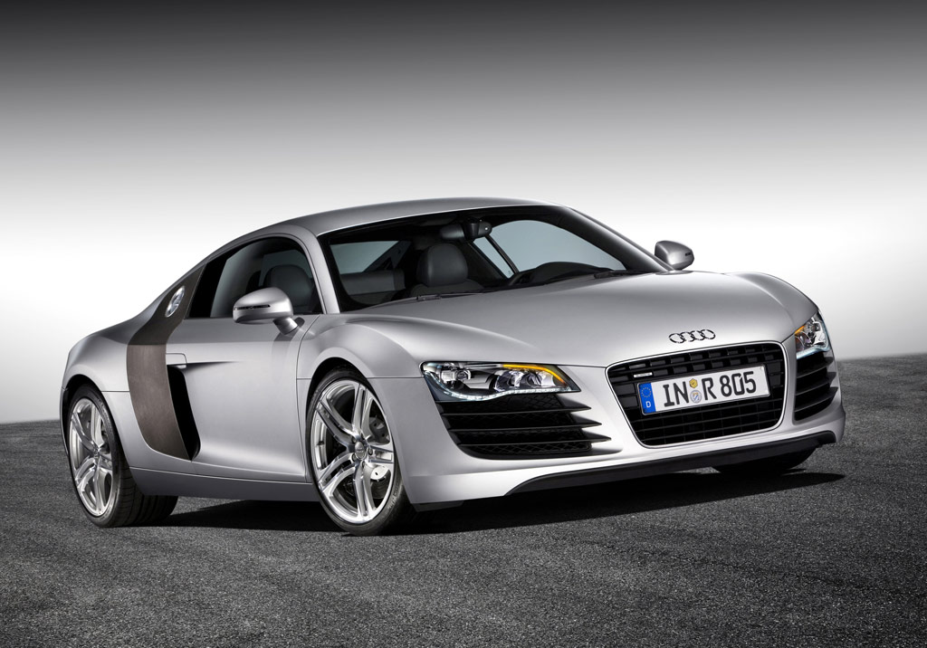 Audi R8 -  3/4 front view