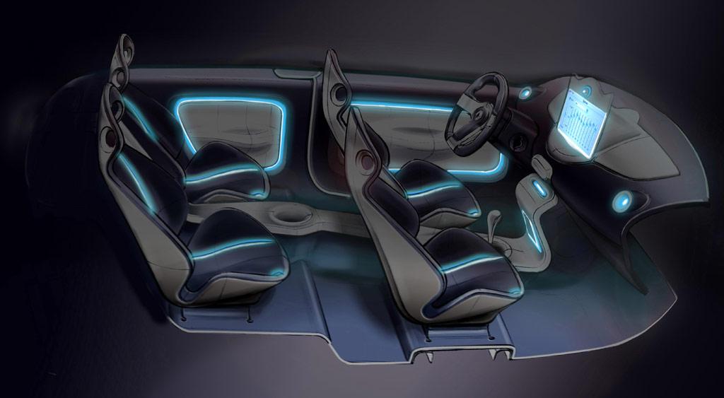 Renault Twingo Concept Interior Sketch Car Body Design