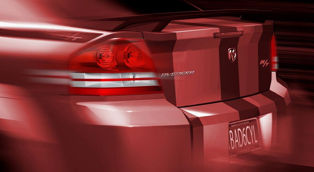 Dodge Avenger Rear End Rendering Car Body Design