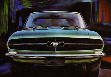 Ford Mustang Sketches on 1965 Bertone Mustang     Sketch By Giugiaro  Source  Arteauto Com