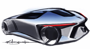 Toyota FT-HS Concept - Design Sketch