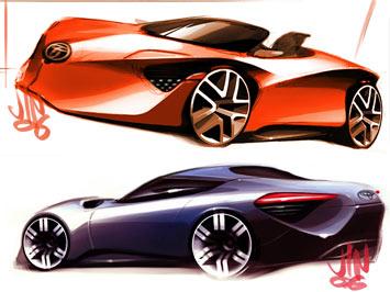 [Présentation] Le design par Toyota _Toyota-FT_HS-Concept-Sketch-cover