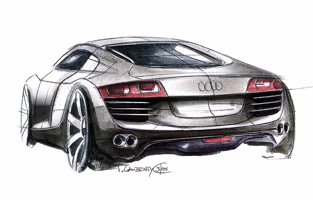 Audi R8 - Design Sketch