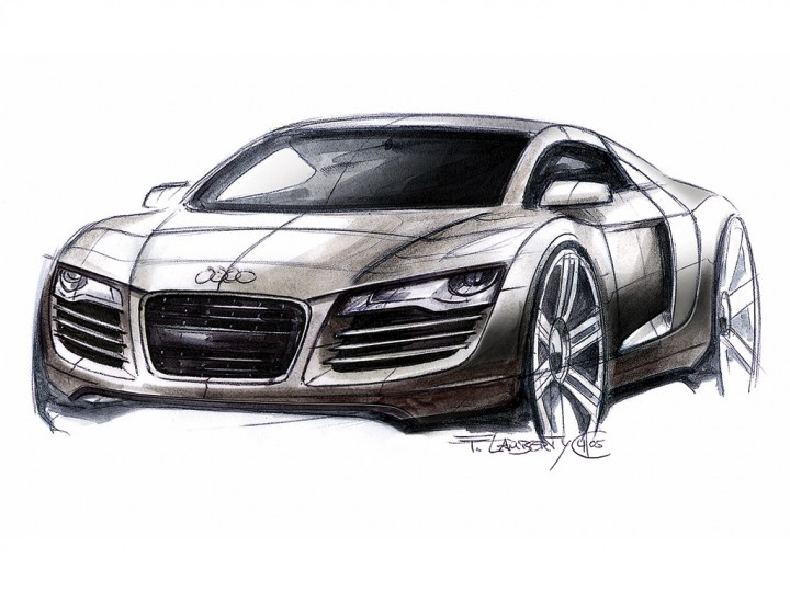 Audi R The Design Car Body Design - Audi car drawing