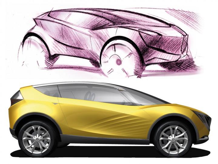 Mazda Hakaze Concept Car Body Design