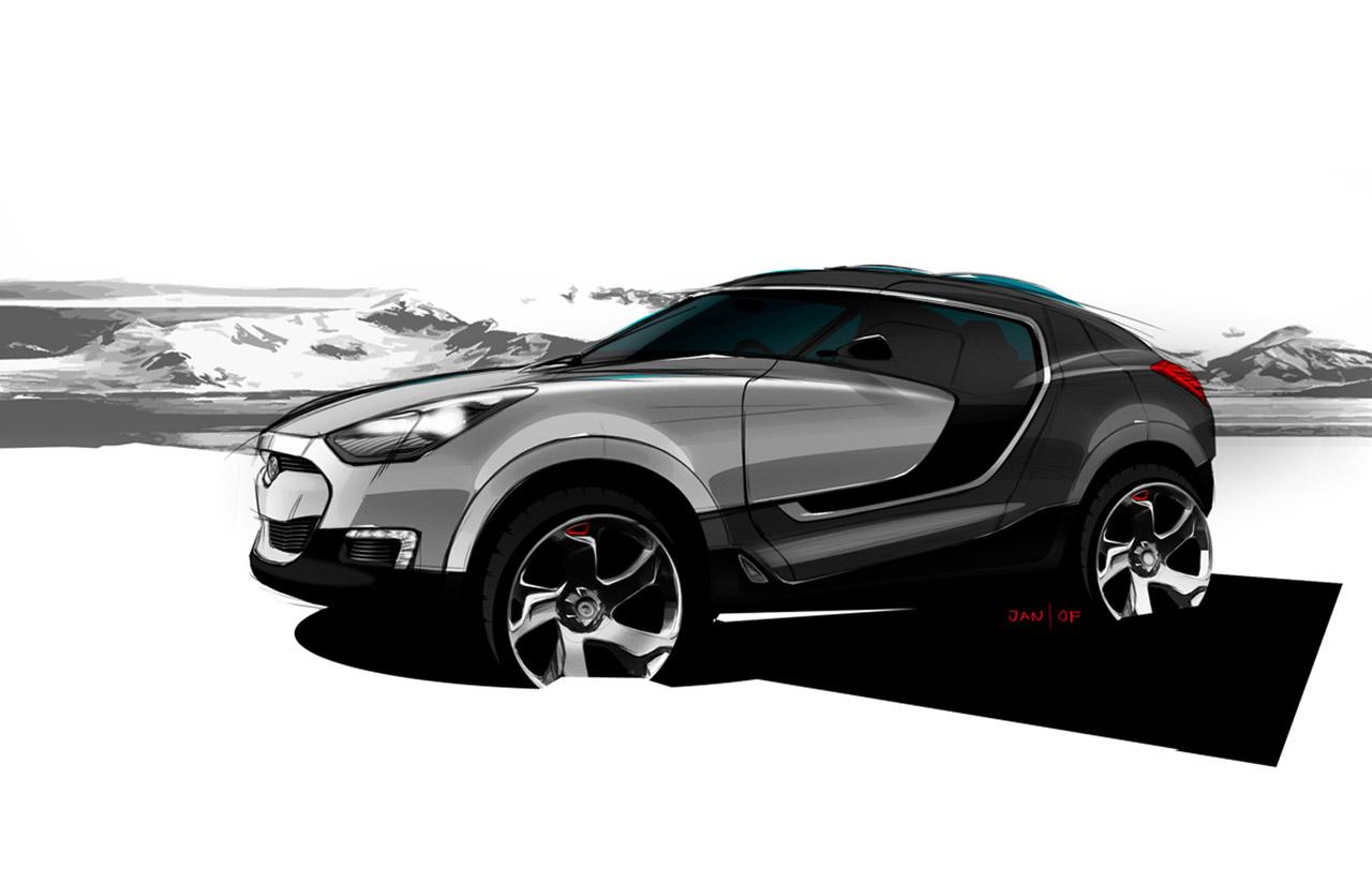 hyundai crossover concept preview car body design. Black Bedroom Furniture Sets. Home Design Ideas