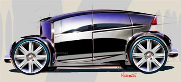 Chrysler Concept sketch by Bryan Nesbitt