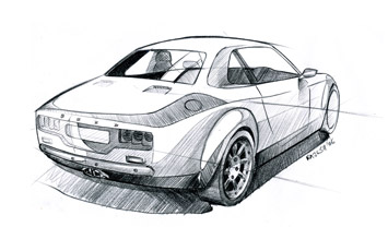 Ford Escort concept sketch by Rajesh Kutty