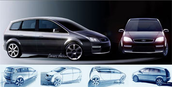 Ford C-MAX - design sketches by Daniel Paulin