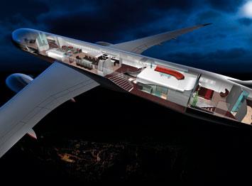 Boeing 787 interior design byBMW DesignworksUSA