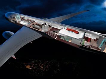 Boeing 787 interior by BMW DesignworksUSA