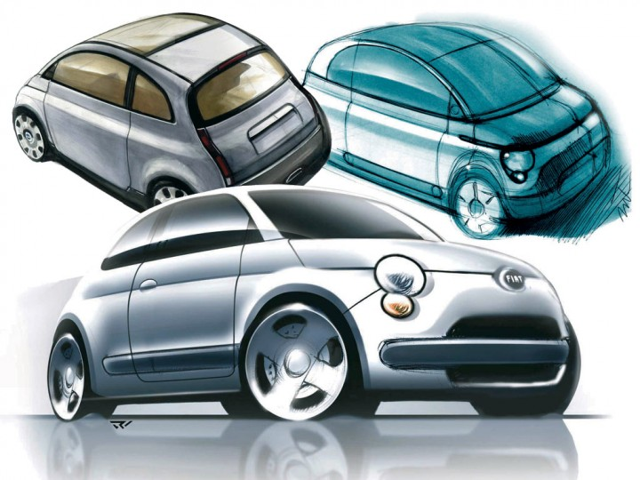 Group Of Design Fiat 500 Right