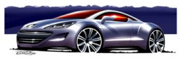 Peugeot 308 RCZ design sketch