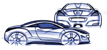 [Présentation] Le design par Peugeot Peugeot-308-RCZ-sketch-2