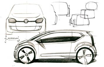 [Présentation] Le design par VW VW-Up-Concept-design-sketch-2