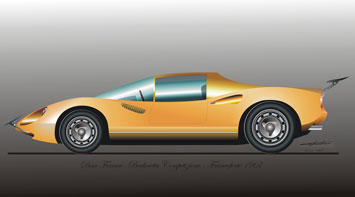 Ferrari Dino Berlinetta graphic illustration