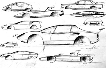 Paolo Martin's design sketches