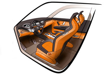Seat Tribu Concept - Interior drawing