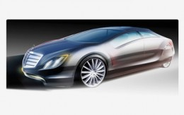 Mercedes F700 Concept design sketch