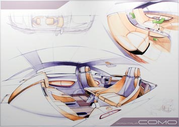 [Présentation] Le design par Mercedes Mercedes-F700-Concept-interior-sketch-1