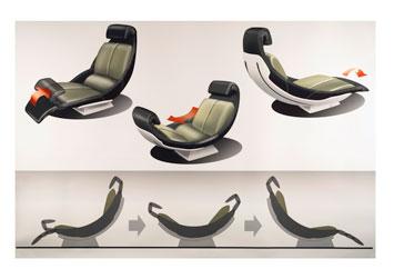 [Présentation] Le design par Mercedes Mercedes-F700-Concept-interior-sketch-2