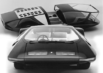 1970 Ferrari Modulo in black