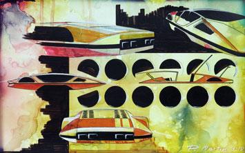 Ferrari 512 Modulo design sketch by Paolo Martin
