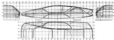 Ferrari Modulo - section drawing blueprint
