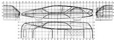 Ferrari Modulo - section drawing blueprint