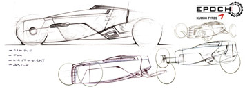 Kumho Epoch Concept - Design sketches
