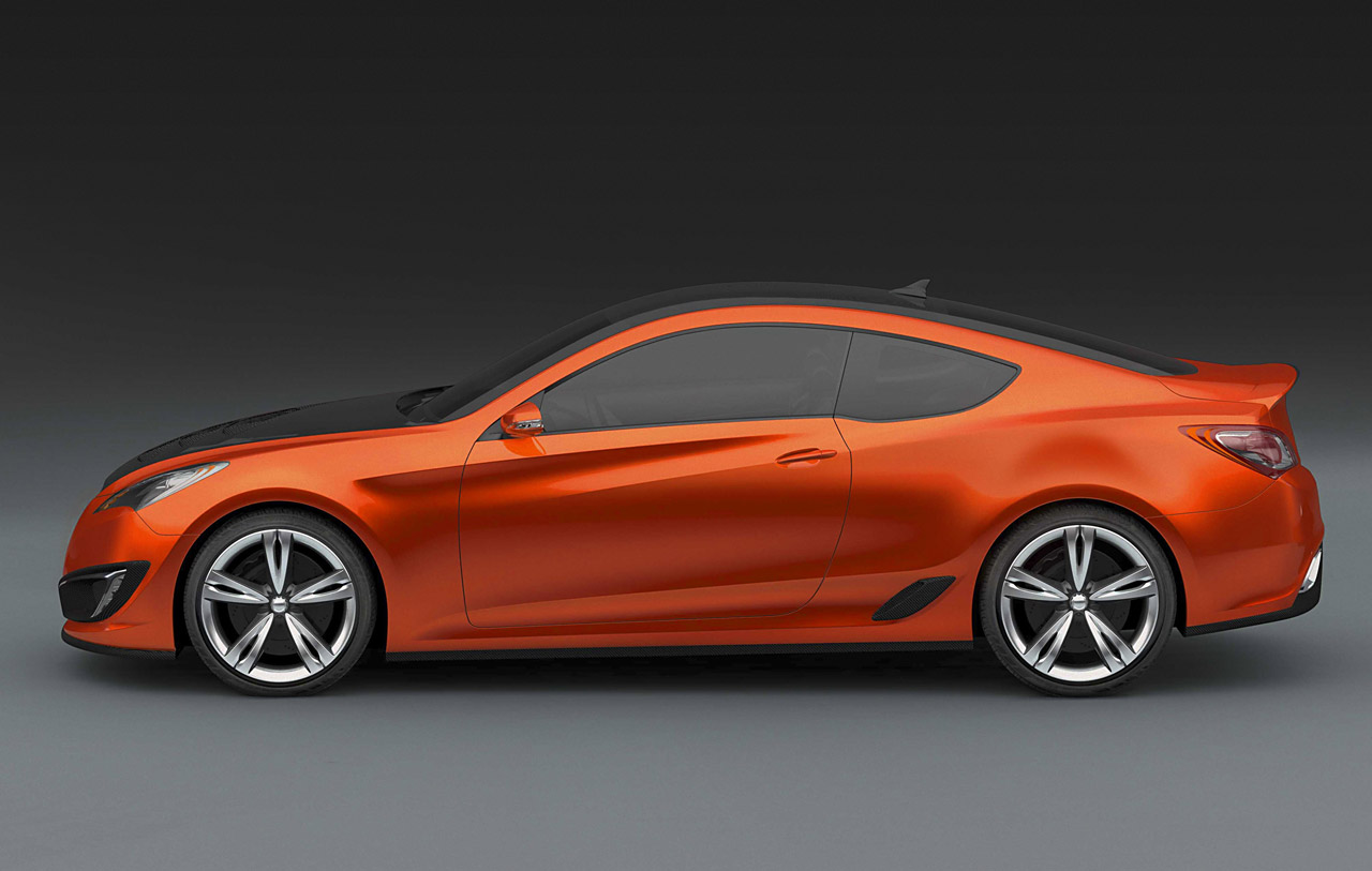 Hyundai Concept Genesis Coupe Car Body Design