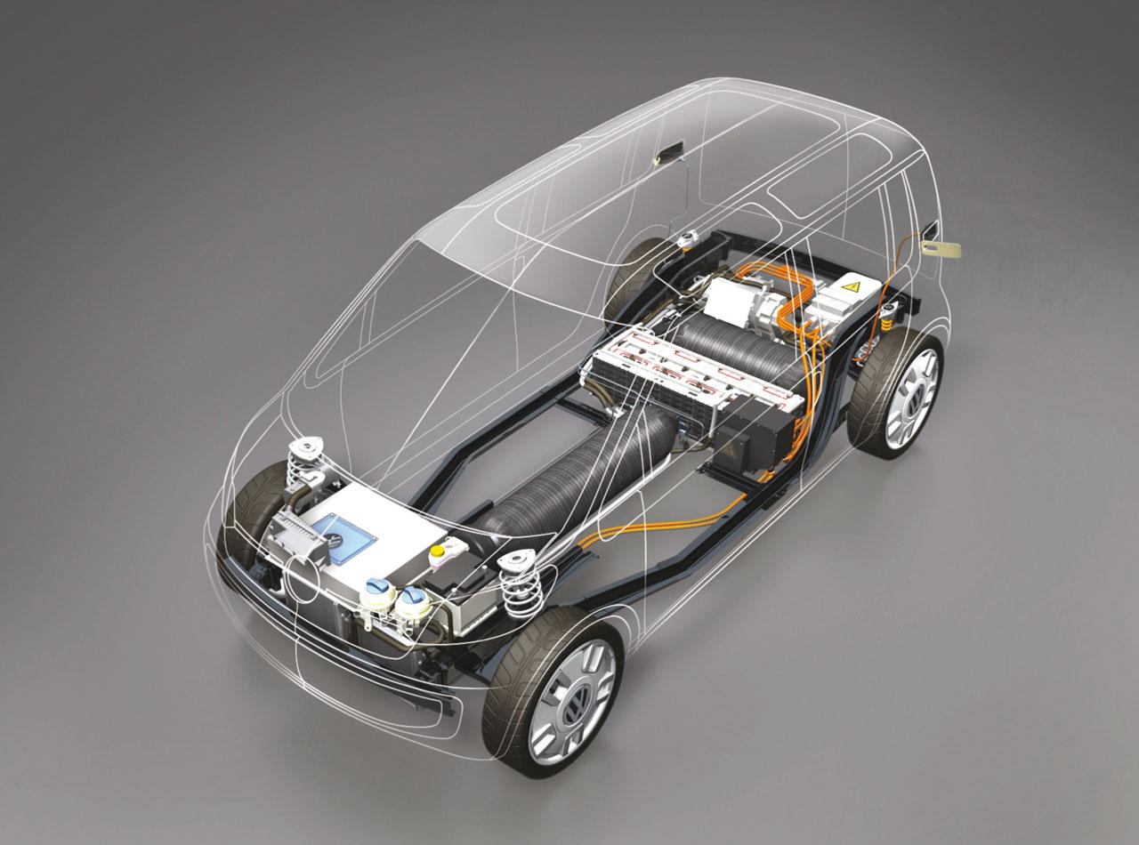Volkswagen Space Up Blue Concept Car Body Design