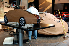 Mazda Design Challenge - clay modeling