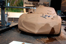 Mazda Design Challenge - CNC clay milling