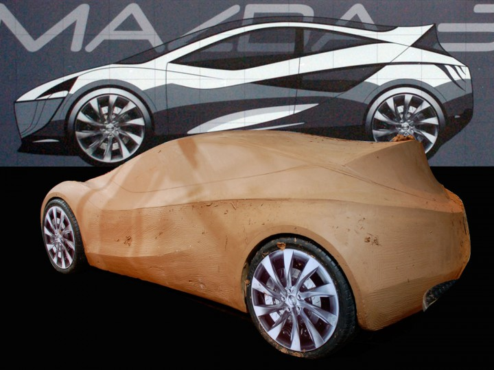 Mazda Design Challenge: clay modeling