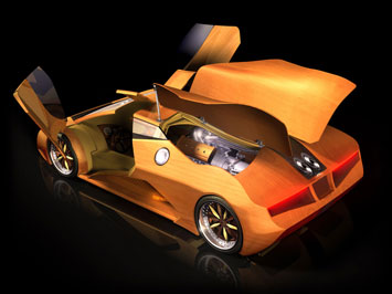 Splinter - Wooden concept car