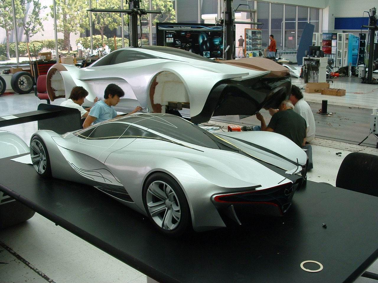 Mazda Furai Concept clay model - Car Body Design