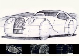 Morgan LifeCar design sketch
