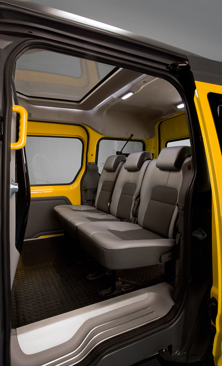Ford transit connect taxi interior car body design for Ford transit connect interior