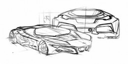 BMW M1 Homage design sketch