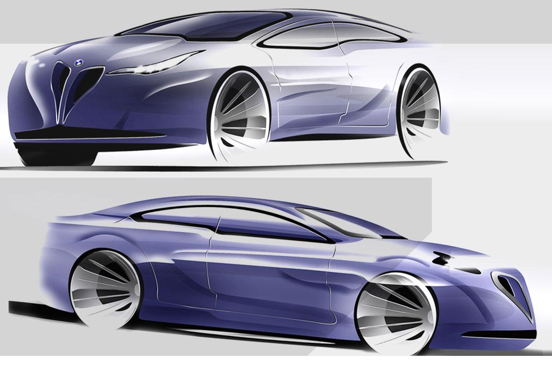 bmw 3 series concept sketches car body design. Black Bedroom Furniture Sets. Home Design Ideas